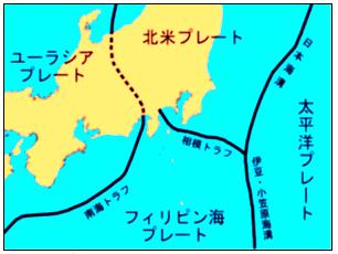 関東周辺のプレート境界